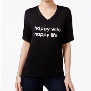 Tops - Peace Love World Happy wife happy life tshirt NWT